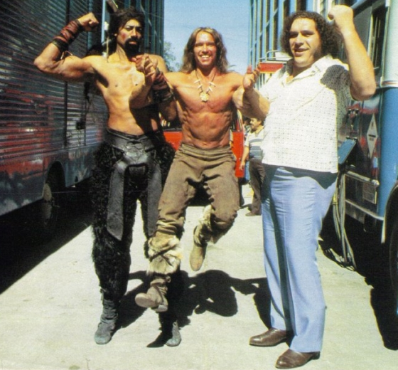 The best pic of Andre The Giant and Wilt The Stilt Chamberlain holding up Arnie you'll see all day.