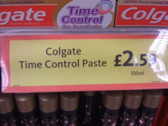 Being able to control time: £2.59