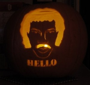 Lionel Richie pumpkin makes me happy...