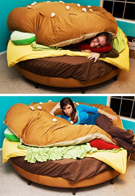 Hamburger bed...
