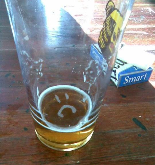 Sad beer is dad...
